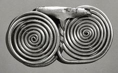Spiral pendant(Period: Iron Age III Date: ca. 7th–6th century B.C. Geography: Iran, Tepe Nush-i Jan Culture: Iran Medium: Silver)