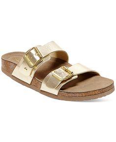ee468ca2aca3a1 Madden Girl Brando Footbed Sandals - Sandals - Shoes - Macy s Gold  Birkenstocks