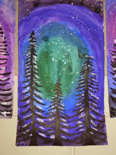 Arts And Crafts For Adults, Arts And Crafts House, Easy Arts And Crafts, Arts And Crafts Projects, Winter Painting, Winter Art, 4th Grade Art, Grade 3, Craft Museum