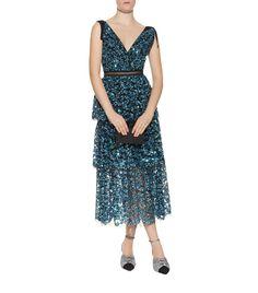 9dba855bd7bb Women  Dresses Self-Portrait Tiered Sequin Midi Dress