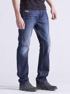 5494e906 NEW mens DIESEL KRAYVER 0824S Urban regular Carrot SLIM leg JEANS size W29  L34 #