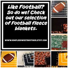 Shop here: https://www.etsy.com/shop/Simpleesweetboutique?ref=l2-shopheader-name #simpleesweetboutique #football #blankets
