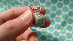 Minecraft Diamond Ore Block Necklace by BeppasCreations on DeviantArt Polymer Clay Charms, Polymer Clay Creations, Polymer Clay Jewelry, Polymer Clay Elephant, Clay Owl, Diy Clay, Clay Crafts, Painting Minecraft, Minecraft Crafts