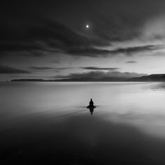 Buddha and Moon. Drake's Beach, Point Reyes National Seashore, Marin County, CAOctober 2011