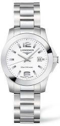 Longines Conquest Stainless Steel Womens Sports Watch L3.277.4.16.6