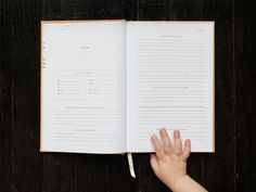 A simple, modern, prompted journal to record your kid's childhood history from pregnancy to 18 years. The perfect baby book, gift for a new mom, photo album, scrapbook replacement, and keepsake for your family. | Promptly Journals