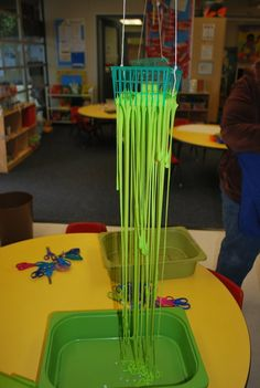 Slime baskets and recipe. Sensory and science activity for preschool. Pinned by Child Care Aware of Central Missouri.