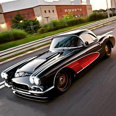 The Legendary Corvette. #corvette #classic car #best car #legendary car Chevrolet Corvette C1, Bmw Classic Cars, Unique Cars, Car Car, Slammed, Sport Cars, Custom Cars, Cars Motorcycles, Muscle Cars