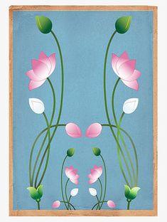 Lotus Flower Pictures, Lotus Flower Art, Lotus Art, Pichwai Paintings, Indian Art Paintings, Classic Paintings, Madhubani Art, Madhubani Painting, Lotus Painting
