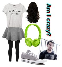 """Meeting Darkiplier ;)"" by slytheringirlriddle ❤ liked on Polyvore featuring Peace of Cloth, Wet Seal, Converse and Beats by Dr. Dre"