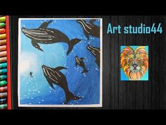 How to Draw Underwater Whales with Oil Pastels step by step Oil Pastel Drawings, Oil Pastels, Whales, Underwater, Moose Art, Make It Yourself, Artwork, Youtube, Painting