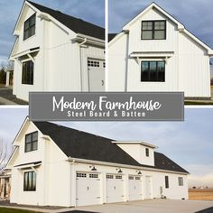 Looking for that perfect Modern Farmhouse look? Get TruLog Maintenance-Free Steel Siding and never paint your house again. Metal Building Homes, Metal Homes, Building A House, Pole Barn House Plans, Pole Barn Homes, Modern Farmhouse Exterior, Farmhouse Plans, Barndominium, Paint Your House