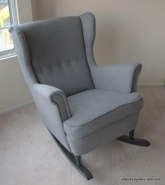 Good IKEA Hack: Strandmon Rocker {DIY Wingback Rocking Chair} Amazing Design