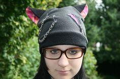Mützen - Mütze mit karierten Katzenohren, Neko, Cosplay - ein Designerstück von Angelas_Kreativwelt bei DaWanda