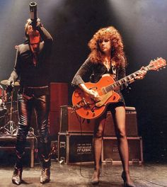 Poison Ivy - Lux Interior (The Cramps). The music was a cross between Rockabilly and Punk Rock, or as they coined it, Shockabilly or Psychobilly. The Cramps, Space Ghost, Music Is Life, My Music, Music Stuff, Photo Rock, Bass, Women Of Rock, New Wave