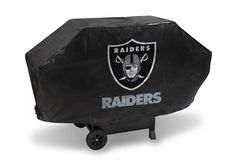 Protect Your investment from the elements with this deluxe Oakland Raiders Grill Cover Raiders team logo printed on one side Durable vinyl construction Lined with white felt Hook-and-loop VELCRO® bran