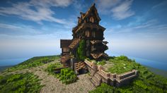 Medieval House - Skyrim Inspiration (Timelapse + Download) Minecraft Project