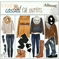 Cozy and casual fall outfits