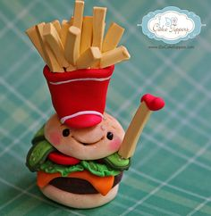 Funny Burger by I Do Cake Toppers, via Flickr
