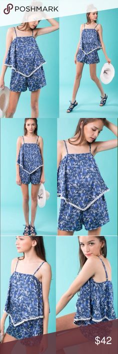 ❗️LAST CALL❗️Beautiful Summer Romper Beautiful summer romper by April Spirit. Super must-have summer wardrobe staple.  Material:  100% polyester. Price is firm unless bundled.   April Spirit Pants Jumpsuits & Rompers