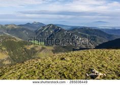 Landscape Tatra mountain range as seen on the morning of spring season