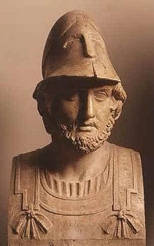 Themistocles, the Victor of the Battle of Salamis. The allied Greek fleet was commanded by the Spartan Eurybiades, a surprising choice considering it was Athens who was the great naval power and supplied by far the most ships. The two other senior commanders were Themistocles of Athens and Adeimantus of Corinth. In effect, tactics and strategy were decided by a council of 17 commanders from each of the contributing contingents.