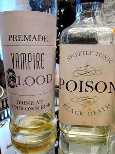 Halloween bottle printables