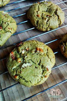 Galletas de té matcha / té verde con nuez