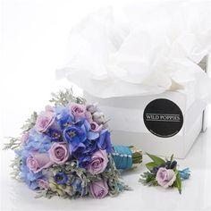Lavender Kiss Bridal Bouquet and Buttonhole