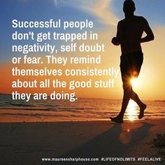 Successful people don't get caught up in negativity, fear and self doubt. They constantly remind themselves of all the good things they are doing. #life #lifecoach #lifecoaching #lifeofnolimits #success #personaldevelopment #bestlife #goodlife #positivity