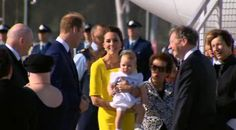 The Duke and Duchess along with their son Prince George have arrived in Sydney  Australia. April 16, 2014.