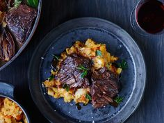Braised Short Ribs with Root Vegetable Mash | This best-ever Braised Short Ribs with Root Vegetable Mash recipe gets flavor from red wine, fresh herbs, butternut squash and more. Get the recipe from Food & Wine.