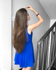 Frizzy, unmanageable hair that lacks shine is not uncommon among . that will help boost your hair's health, making it long, silky, and soft. Very Long Hair, Long Hair Cuts, Long Dark Hair, Beautiful Long Hair, Gorgeous Hair, Thick Hair Bob Haircut, Long Indian Hair, Silky Smooth Hair, Soft Hair
