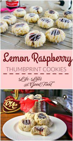 Lemon Raspberry Thumbprint Cookies | Life, Love, and Good Food #FoodBloggerLove