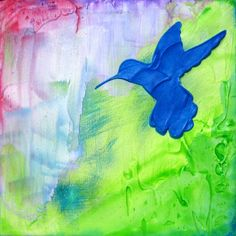 hummingbird paintings abstract - Google Search
