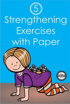 If you need to work on muscle strengthening at home, try these 5 core strengthening exercises using paper. Check out these simple ideas! Pediatric Occupational Therapy, Pediatric Ot, Motor Skills Activities, Gross Motor Skills, Yoga For Kids, Exercise For Kids, Physical Education Lessons, Early Education, Knee Strengthening Exercises