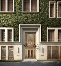 Internationally-renowned architect Robert Stern has designed The Morgan, a residential development slated to open in Hong Kong in 2016 Neoclassical Architecture, Classic Architecture, Facade Architecture, Entrance Design, Facade Design, Exterior Design, Classic Building, Building Facade, Villa Design