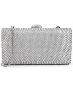 f94475550a Dexmay Large Rhinestone Crystal Clutch Evening Bag Women Clutch Purse for  Cocktail Prom Party - Silver - C9182Y4X4I8