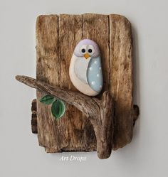 Reclaimed wood, driftwood & painted stone. Love