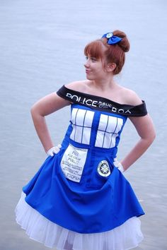 The Tardis Dress - as weird as this is, I felt the need to repin it, I mean, it's creative AND Doctor Who. ;D