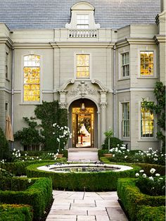 Classic Style, gardens create the charm for any size home