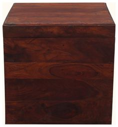 "18"" Cube Indian Rosewood Storage Box End Table contemporary-storage-boxes"