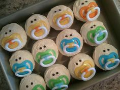 Baby Pacifier Cupcakes