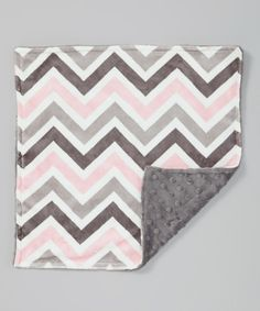 Take a look at this Charcoal & Pink Zigzag Minky Security Blanket on zulily today!