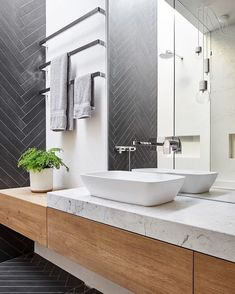 Matching bathroom furniture for modern and functional bathroom design Minimal Bathroom, Modern Bathroom Design, Contemporary Bathrooms, Rustic Bathroom Vanities, Bathroom Furniture, Bathroom Interior, Marble Bathrooms, Men's Bathroom, Master Bathrooms