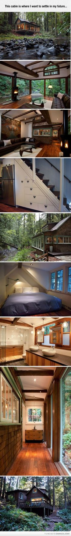 I Want To Disappear To Wherever This Is Small Modern Cabin, Modern Cabin  Decor,