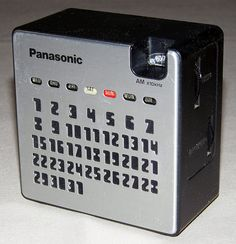 Vintage Panasonic Calendar AM Radio, Model No. R-77, Takes 2 AA Batteries, Made in Japan | by France1978