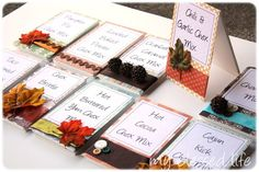 What a great idea - for a party or Thanksgiving. Make some party food labels