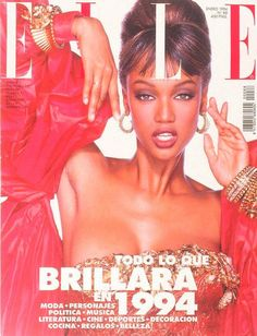 Tyra Banks by Gilles Bensimon for Elle Spain January 1994