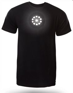 Camiseta Iron Man. Tony Stark, LED Arc Reactor Mark IX